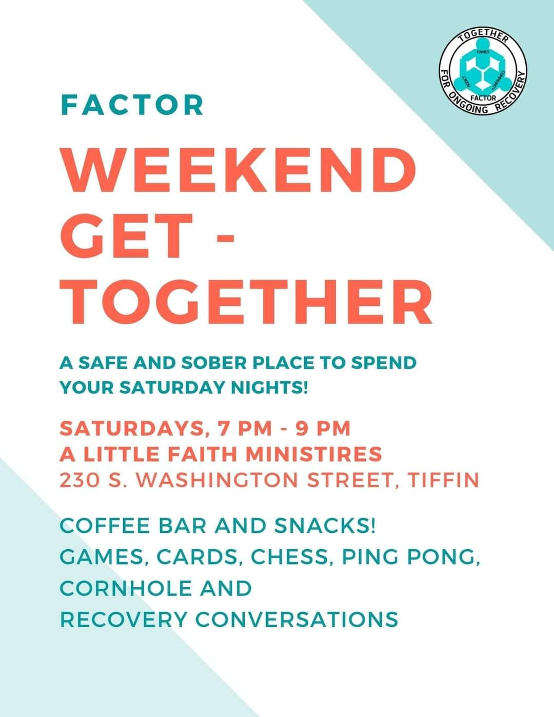 Sober Saturday - Weekend Get Together @ A Little Faith Ministries | Tiffin | Ohio | United States